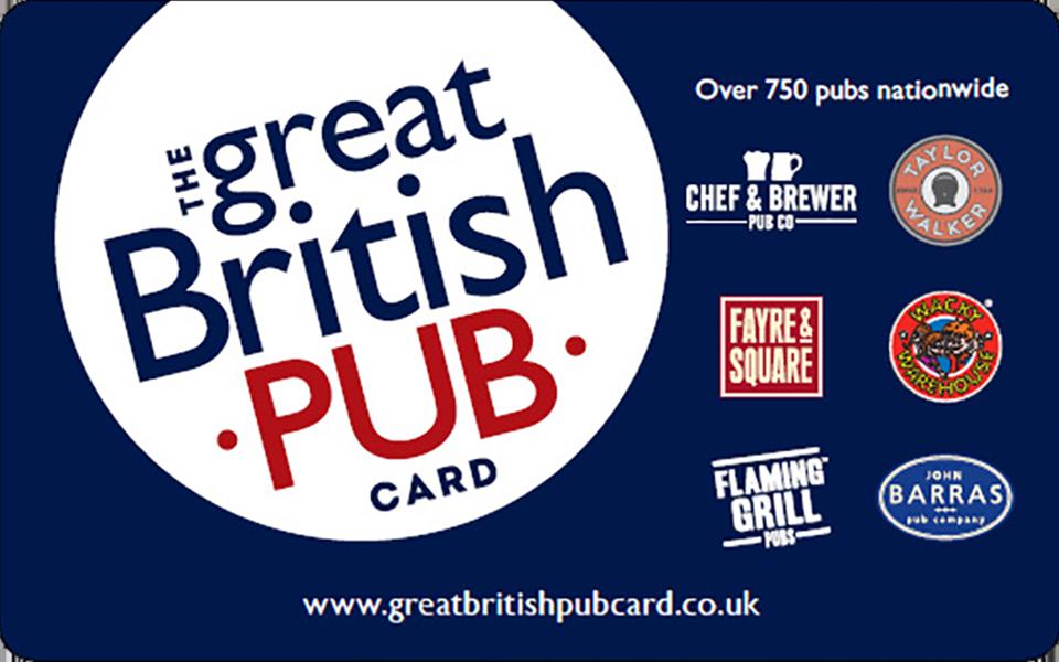 Great British Pub Gift Card UK